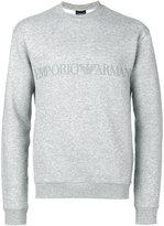 Emporio Armani logo print sweatshirt - men - Cotton/Polyester - S