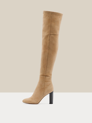 Diane von Furstenberg Deana Kid Suede Over-The-Knee Boots