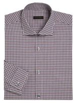 Z Zegna Slim-Fit Gingham Dress Shirt