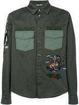Valentino tattoo embroidered shirt - men - Cotton/Polyester/Viscose - 50
