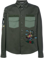 Valentino tattoo embroidered shirt