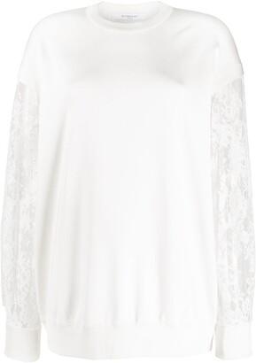 Givenchy lace sleeve sweatshirt