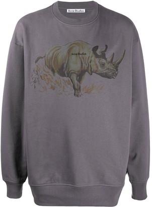 Acne Studios Rhino-Print Sweatshirt