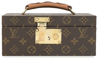 Louis Vuitton Logo Print Jewellery Case