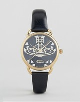 Vivienne Westwood Leadenhall Black Leather Watch VV163BKBK