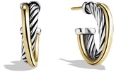 David Yurman Crossover Extra Small Hoop Earrings with Gold