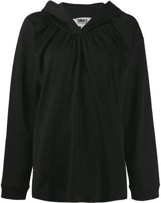 MM6 MAISON MARGIELA ruched hoodie