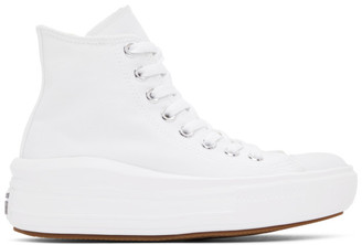 Converse White Chuck Taylor All Star Move Hi Sneakers