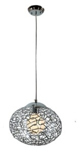 "Home Accessories Aaliyah 8"" 1-Light Indoor Pendant Lamp with Light Kit"