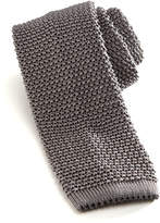 Charvet Knit Silk Tie, Gray