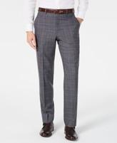 Michael Kors Men's Classic-Fit Airsoft Stretch Gray/Blue Plaid Suit Pants