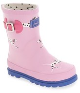 Joules 'Welly' Print Waterproof Rain Boot (Walker & Toddler)