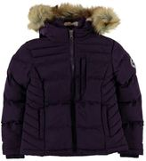 Soul Cal SoulCal Kids Girls Two Zip Bubble Jacket Junior Padded Coat Top Chin Guard