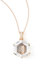 Frederic Sage Jelly Initial Rose Gold Diamond Letter Necklace, J