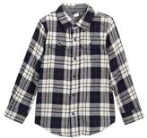 Tailor Vintage Long Sleeve Reversible Double Face Shirt (Toddler & Little Boys)