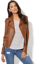 New York & Co. Faux-Leather Moto Jacket