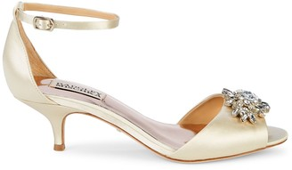 Badgley Mischka Sainte Embellished Satin Sandals