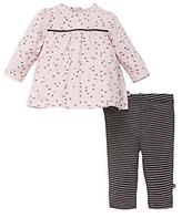 Offspring Girls' Floral Tunic & Stripe Leggings Set - Baby