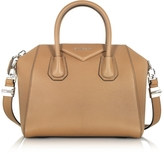 Givenchy Antigona Small Beige Leather Satchel Bag