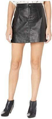 BB Dakota Good Girl Gone Rad Textured Faux Leather Miniskirt (Black) Women's Skirt