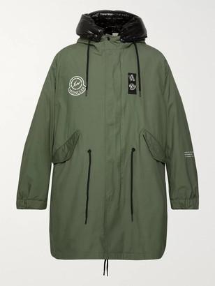 MONCLER GENIUS 7 Moncler Fragment Fulcrum Washed-Cotton Hooded Down Jacket