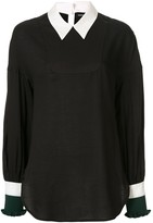 Undercover contrast collar blouse