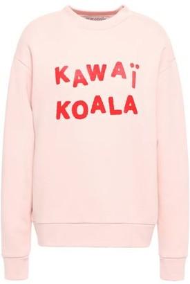 Être Cécile Kawai Koala Appliqued Flocked Cotton-fleece Sweatshirt