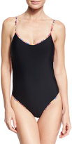 Ale By Alessandra Bahia Strappy-Back One-Piece Swimsuit, Black