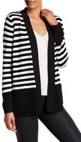 Anne Klein Long Sleeve Stripe Cardigan
