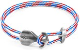 Anchor & Crew Project Rwb Red White & Blue Delta Anchor Silver & Rope Bracelet