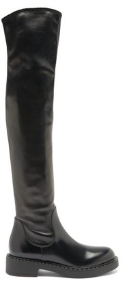 Prada Over-the-knee Leather Boots - Black