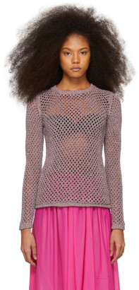 Marc Jacobs Purple Metallic Sweater