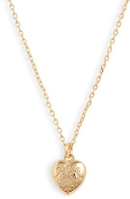 Estella Bartlett Engraved Heart Pendant Necklace