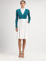 Sophie Theallet Silk Dragonfly Wrap Top