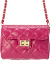 MC M&c Women's   Chain & Leather Strap Quilted Handbag