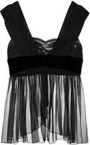 Alberta Ferretti sheer draped top
