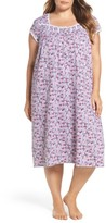 Eileen West Plus Size Women's Floral Print Waltz Nightgown