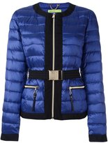 Versace belted cropped puffer jacket