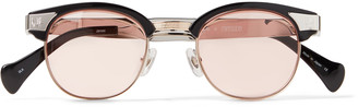 Needles + Matsuda D-Frame Silver- And Gold-Tone And Acetate Sunglasses