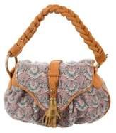 Missoni Suede-Trimmed Mini Bag