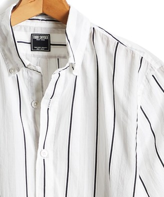 Todd Snyder Lightweight Button Down White Stripe Shirt