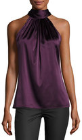 Ramy Brook Paige Halter-Neck Top, Merlot