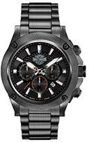 Harley-Davidson Men's Quartz Watch with Black Dial Chronograph Display and Black Stainless Steel Bracelet 78B127