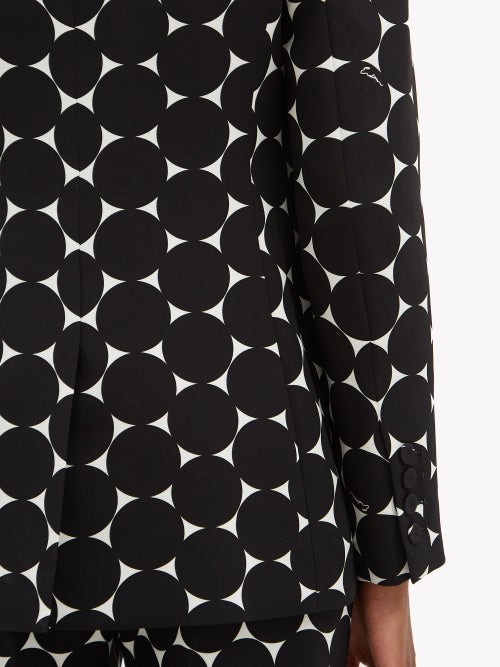 Thumbnail for your product : Erdem Freesia Double-breasted Crepe Jacket - Black/white