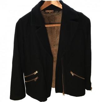 Bel Air Black Wool Coat for Women