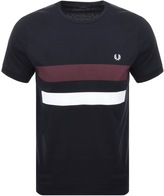 Fred Perry Crew Neck Bold Tipped T Shirt Navy