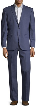 Kenneth Cole Pinstriped Wool Blend Suit