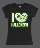 Urban Smalls Black Glow 'I Heart Halloween' Fitted Tee - Toddler & Girls