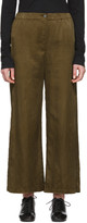 Raquel Allegra Khaki Sateen Everyday Trousers