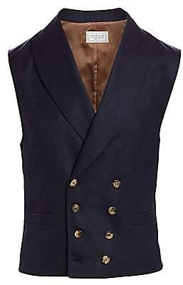 Brunello Cucinelli Men's Double-Breasted Wool Gilet